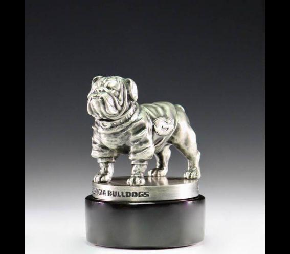 Silver Bulldog Statue