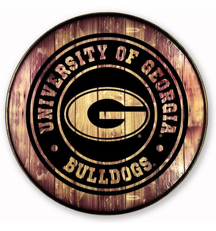 UGA Barrel Head Sign
