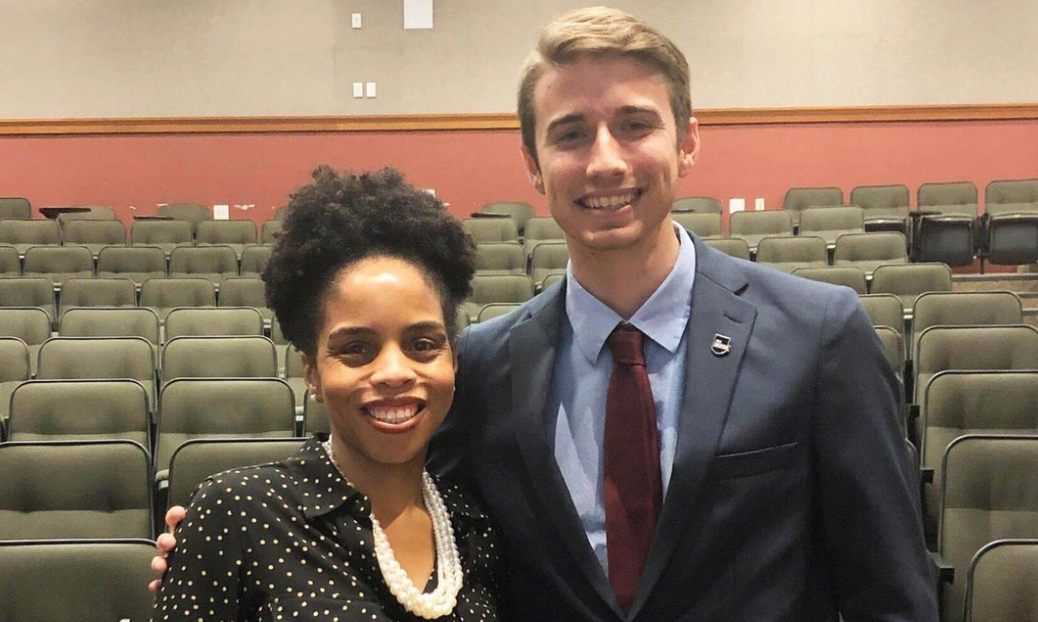 Mentor Cara Simmons (left) with mentee Kanler Cumbass.