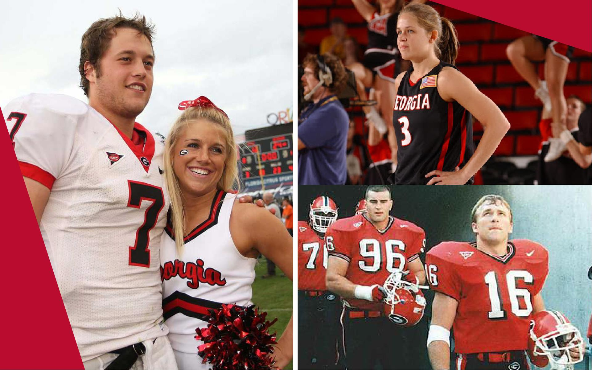 The Staffords and Smarts during their days as UGA athletes