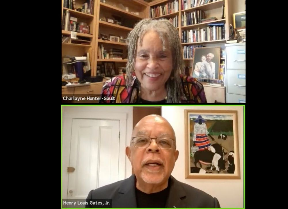 Charlayne and Henry on Zoom
