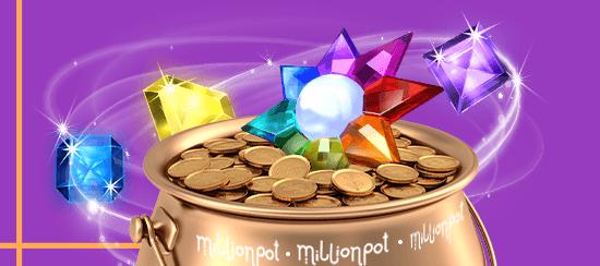 million pot online casino banner